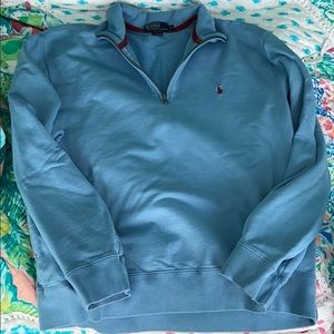 men's polo quarter zip